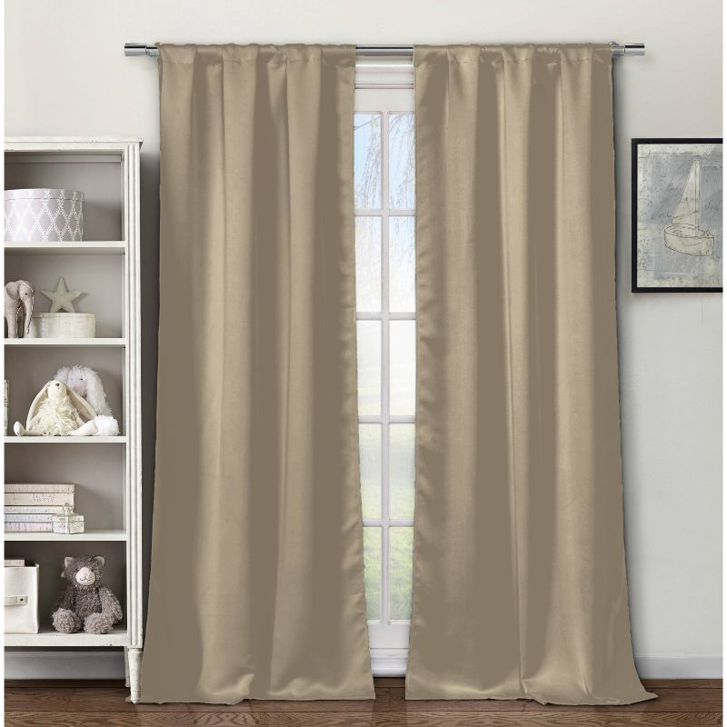 "Solid Triple Layered Blackout Curtains 38"" x 84"" - 4 Pack"