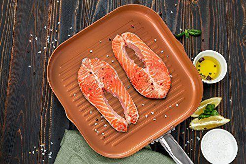 Daily Steals-11-inch Ceramic Coated Copper Griddle-Foods-