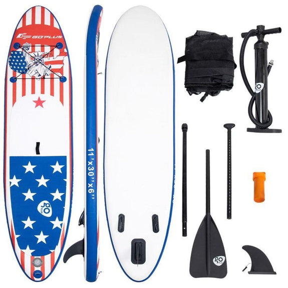 11' Inflatable Stand Up Paddle Board Backpack Sport-