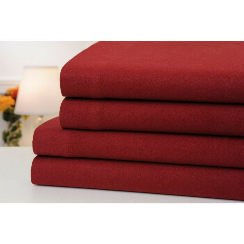4-Piece Set: Bibb Home 100% Cotton Solid Flannel Sheets - Assorted Colors-Daily Steals