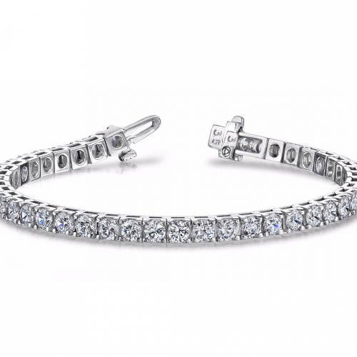 14K White Gold Plated Classic Tennis Bracelet-Daily Steals