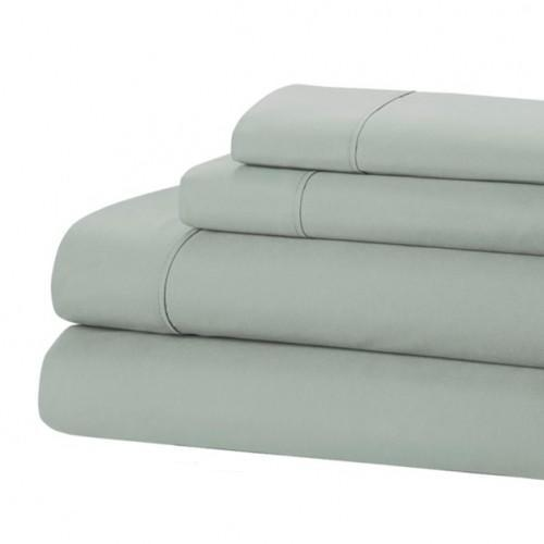 Jamie Lynn 400-Thread Count 100% Cotton 4-Piece Sheet Set-BLUE-KING-Daily Steals