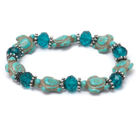 Genuine Hawaiian Sea Turtle Bracelet With Turquoise-Daily Steals