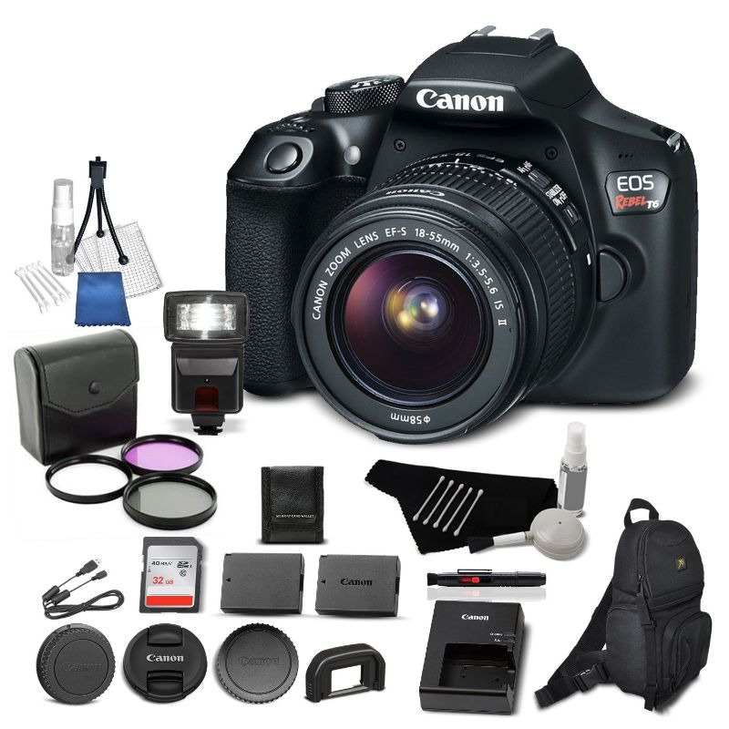Canon Eos Rebel T6 Dslr Camera W 18 55mm Lens Memory Card Filter Ki