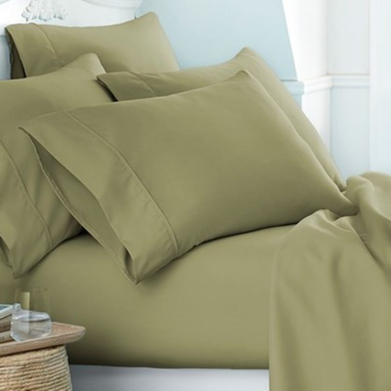 Microfiber Merit Linens Bed Sheets Sets - 6 Piece-Sage-Twin-Daily Steals