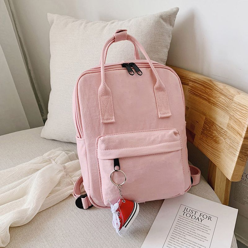 Mini Unisex Daily Backpack with FREE Shoe Keychain-Pink-Daily Steals