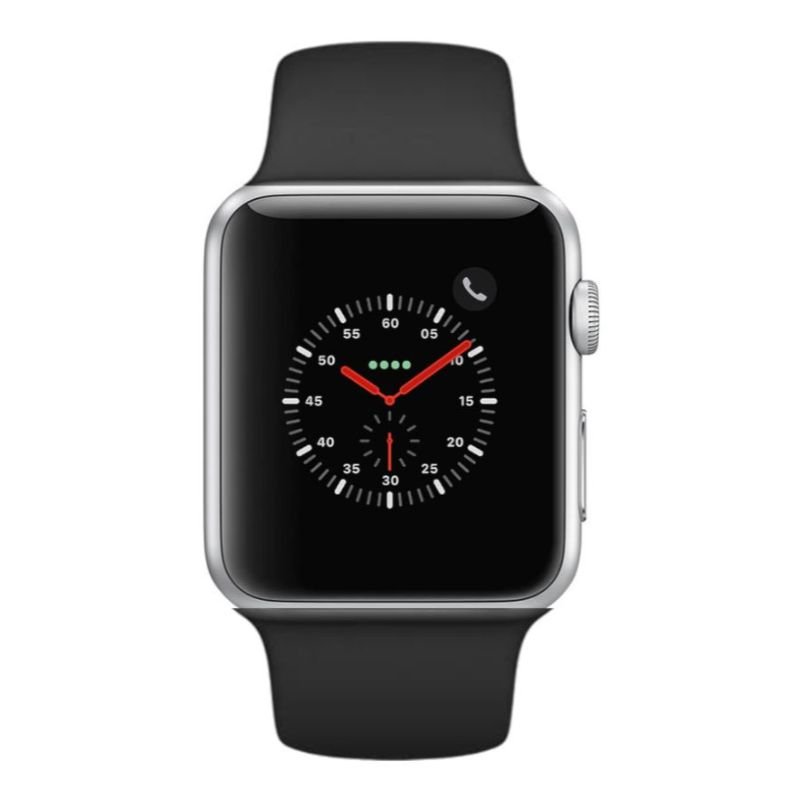 Apple Watch Series 2 38mm, WiFi-Silver with Black Sport Band-Daily Steals