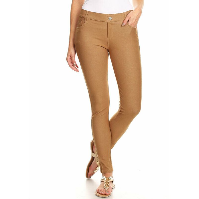 Ensemble de coton Jeggings-Kaki-Large-Daily-Steals pour femme