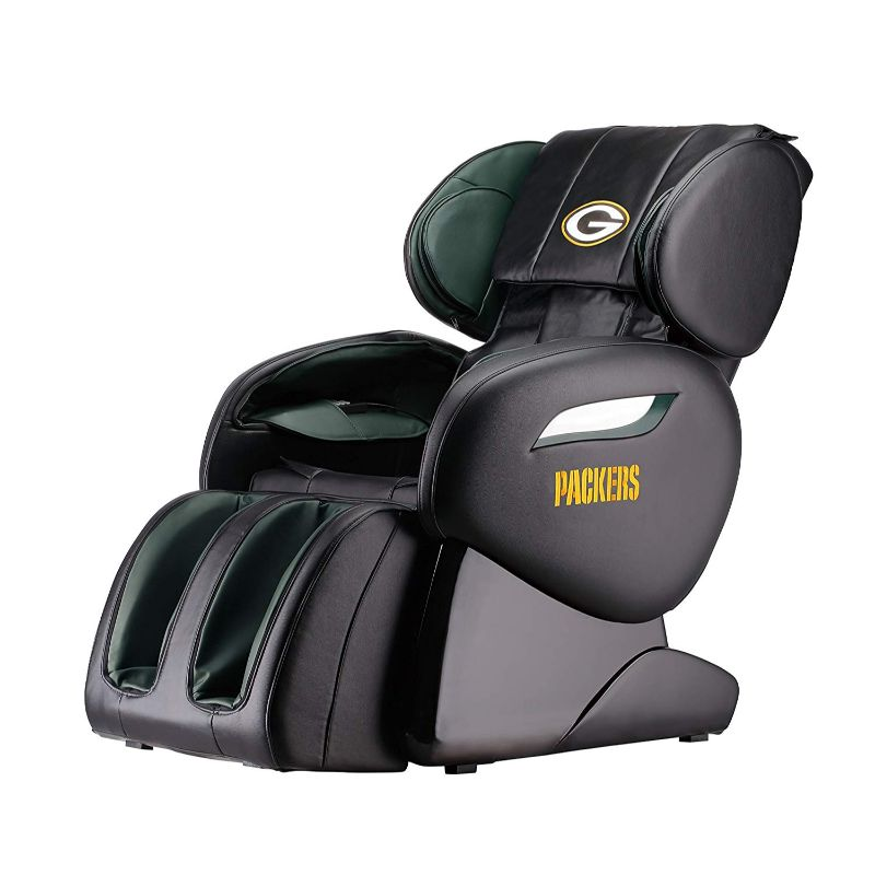 NFL Electric Full Body Shiatsu Massage Chair with Foot Roller-Greenbay Packers-Daily Steals