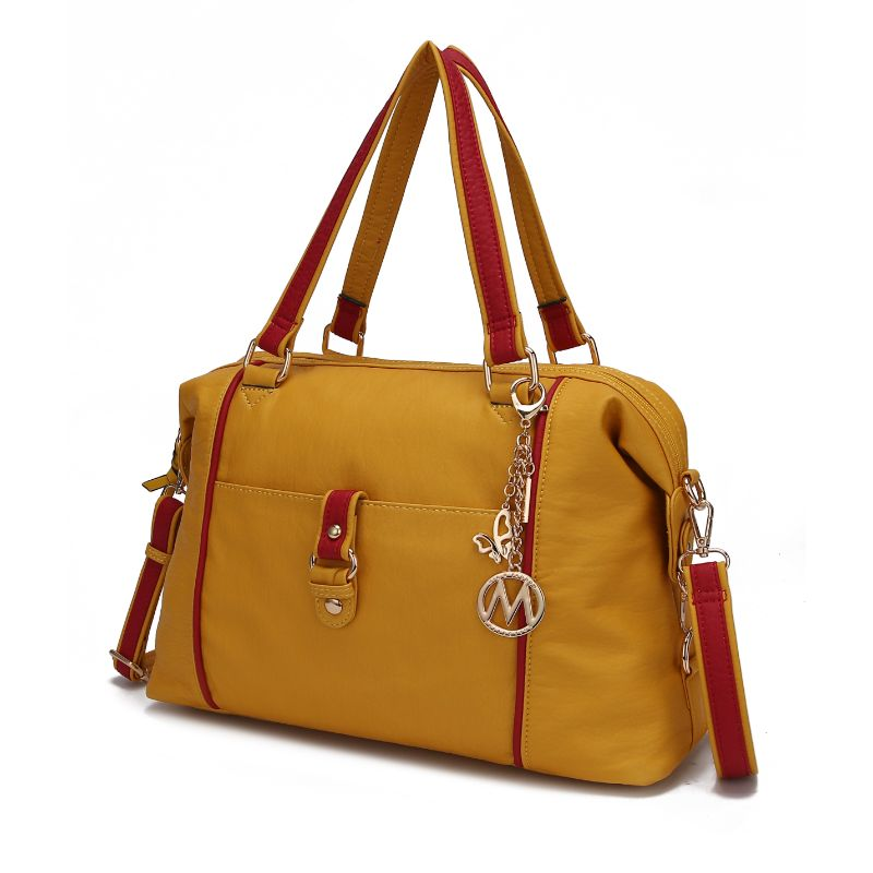 Opal Satchel Handbag by MKF-Yellow-Red-Daily Steals