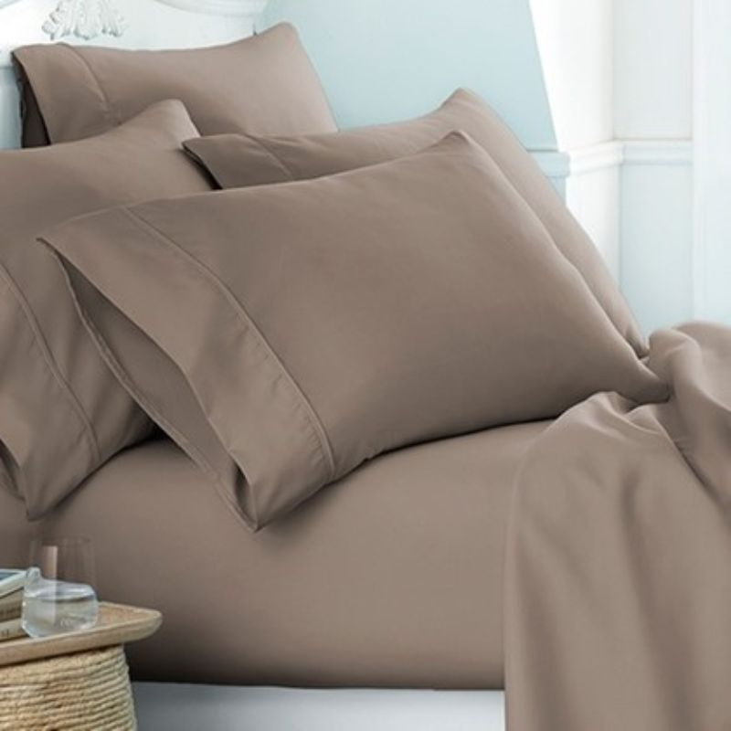Microfiber Merit Linens Bed Sheets Sets - 6 Piece-Taupe-Twin-Daily Steals