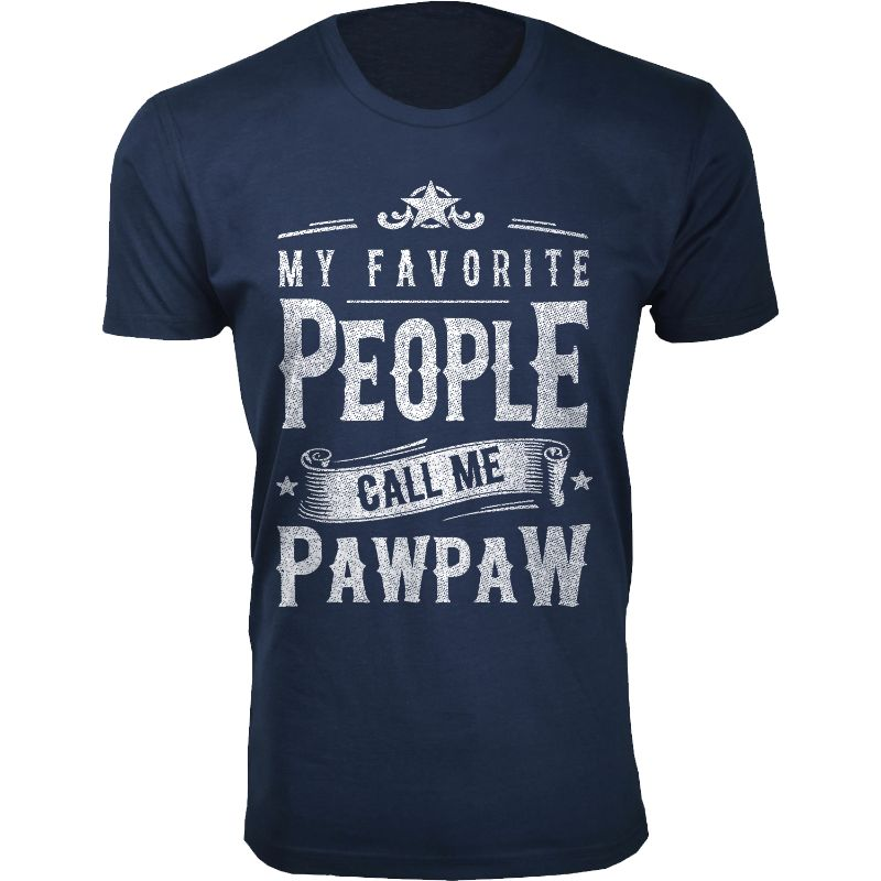 Men's Dad Grandpa My Favorite People Call Me T-Shirts-Pawpaw - Navy-2XL-Daily Steals