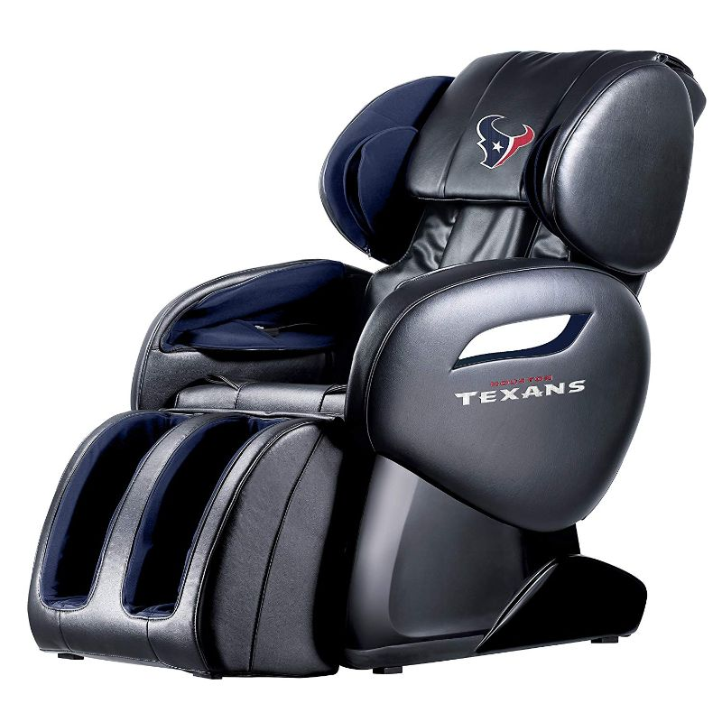 NFL Electric Full Body Shiatsu Massage Chair with Foot Roller-Houston Texans-Daily Steals