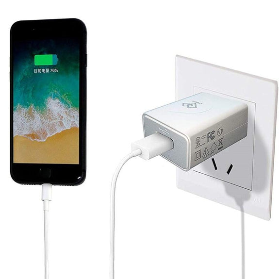 12W USB Power Adapter Wall Charger 5V 2.4A Provides Fast Quick Charging-