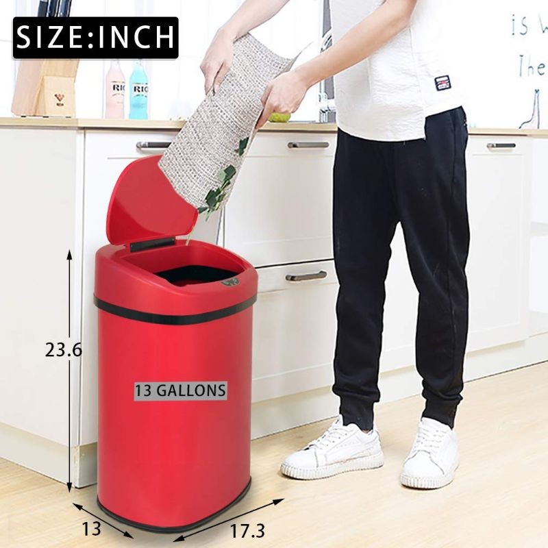 13-Gallon Automatic Touch Free Motion Sensor Trash Can-Daily Steals