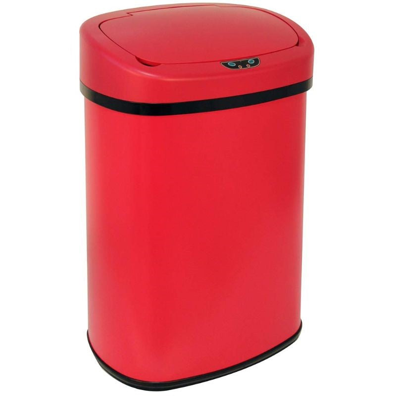 13-Gallon Automatic Touch Free Motion Sensor Trash Can-Red-Daily Steals