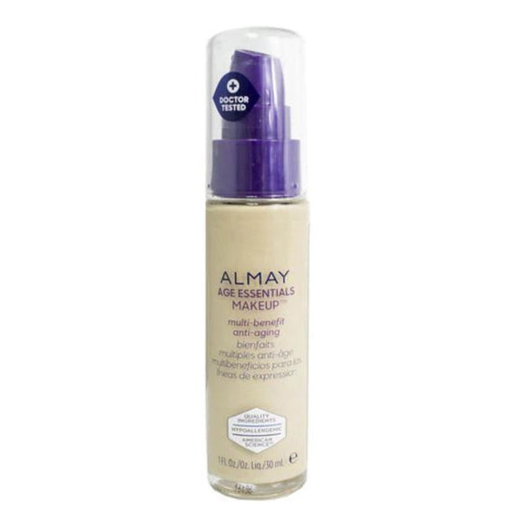 Almay Age Essentials Anti-Aging SPF 15 Foundation Makeup - 2 Pack-130 Light Medium Neutral-Daily Steals