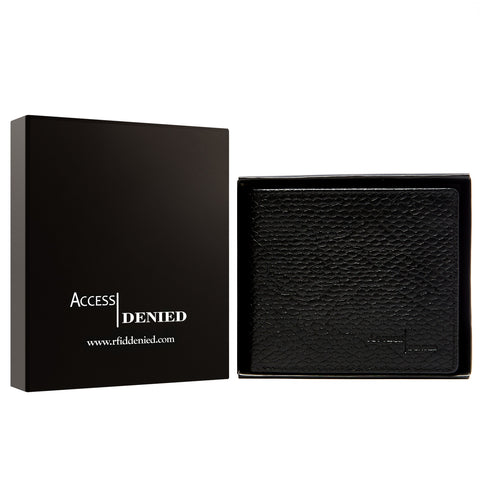 update alt-text with template Daily Steals-Access Denied Genuine Leather Bifold RFID Wallets For Men With Removable Card Holder-Accessories-BLACK PYTHON-