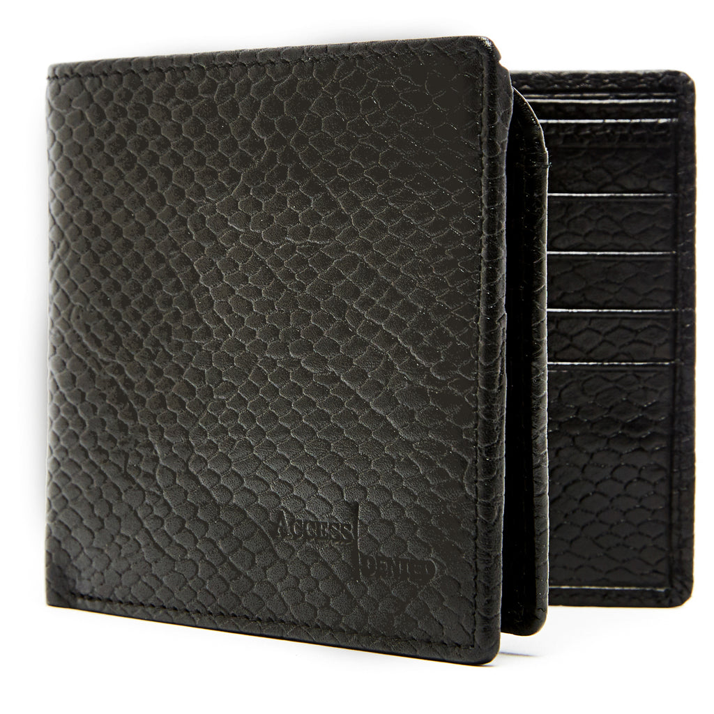 Access Denied Genuine Leather Bifold RFID Wallets For Men With Removable Card Holder-Daily Steals