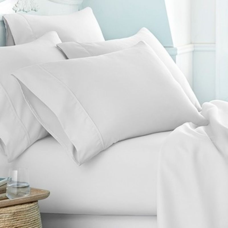 Microfiber Merit Linens Bed Sheets Sets - 6 Piece-White-Twin-Daily Steals