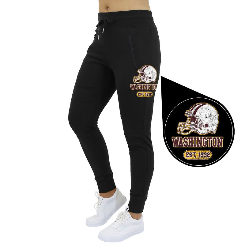 Women's Home Team Football Jogger Sweatpants-Washington - Black-S-Daily Steals