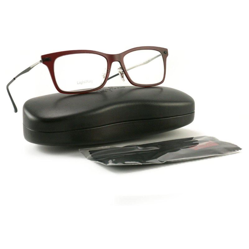Ray Ban Men Eyeglasses RX7039 5456 Dark Matte Red 53 18 140 Demo Lens Light Ray