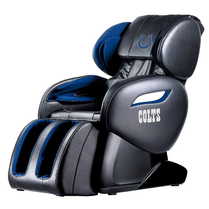 NFL Electric Full Body Shiatsu Massage Chair with Foot Roller-Indianapolis Colts-Daily Steals