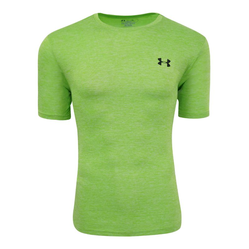 Under Armour Men's Short Sleeve T-Shirt-Lime Heather-S-Daily Steals
