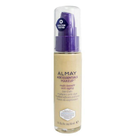 Almay Age Essentials Anti-Aging SPF 15 Foundation Makeup - 2 Pack-140 Light Medium Warm-Daily Steals