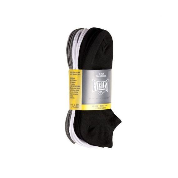 Everlast Men's No-Show Socks - Black, White and Gray - 14 Pairs-Daily Steals
