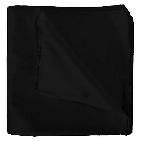 100% Cotton 18 Pack Bandana - 22 x 22-Solid Black-Daily Steals