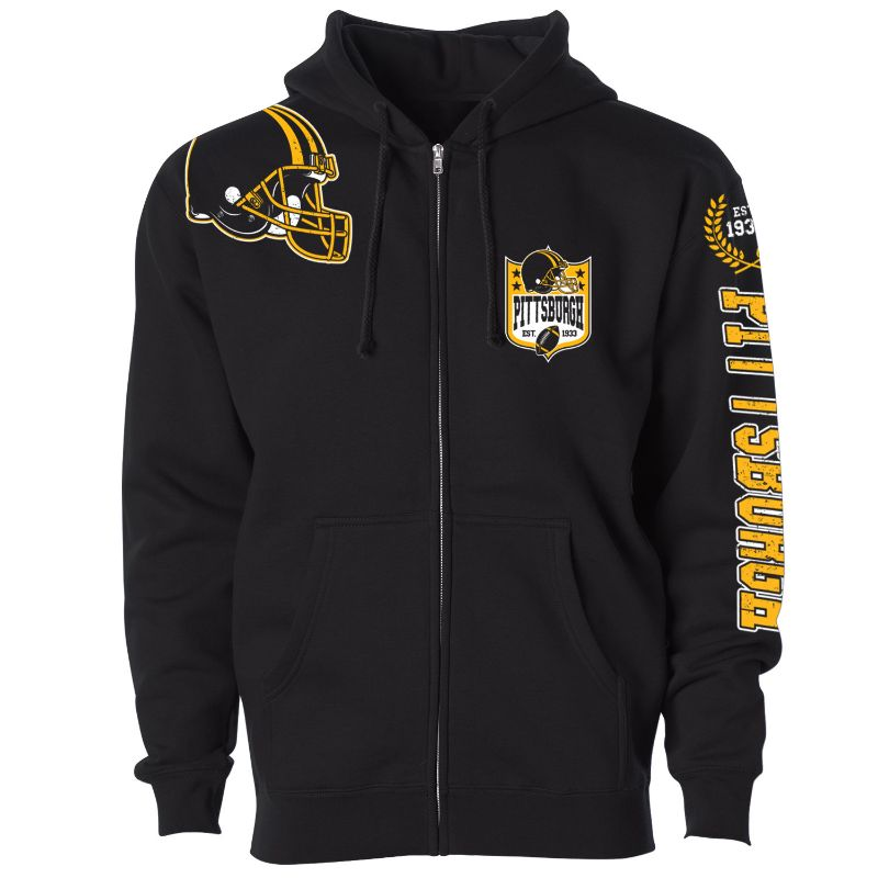 Women's Football Home Team Zip Up Hoodie-S-Pittsburgh-Daily Steals