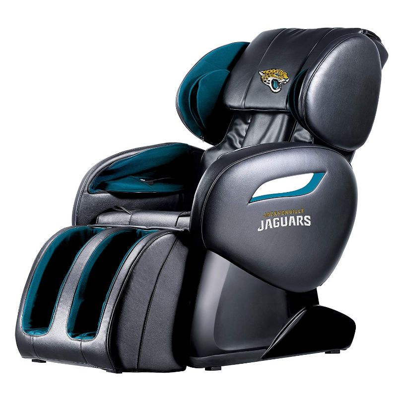 NFL Electric Full Body Shiatsu Massage Chair with Foot Roller-Jacksonville Jaguars-Daily Steals