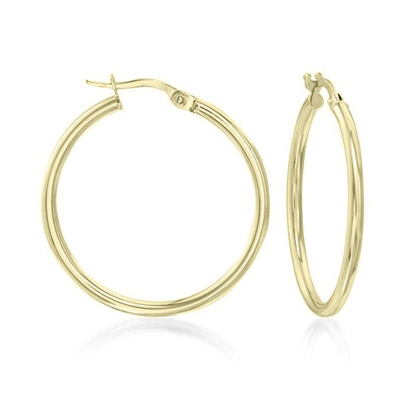 "1.5"" Classic Round Hoop Earrings in 18k Gold Filled-Daily Steals"