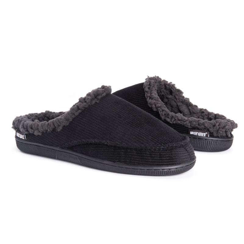 Muk Luks Men's Corduroy Clog Slippers-Daily Steals
