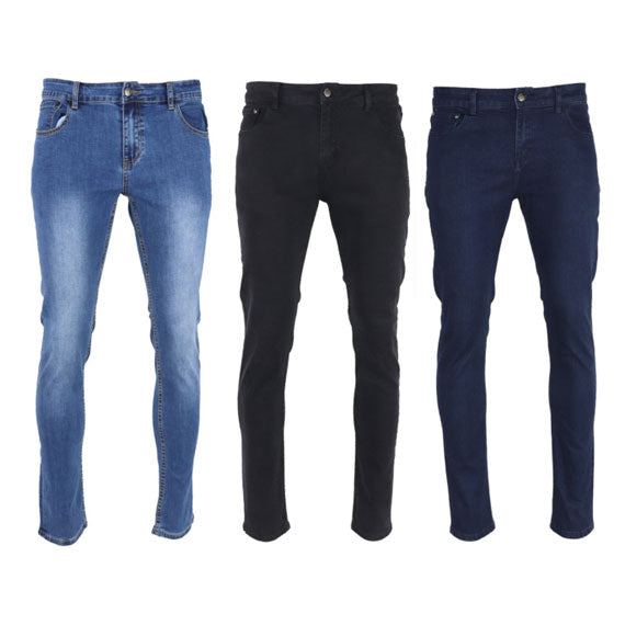 Daily Steals-Mason and Co. Men's Skinny Denim Stretch Jeans - 3 Pack-Men's Apparel-32x32-