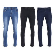 Mason and Co. Men's Skinny Denim Stretch Jeans - 3 Pack-32x32-Daily Steals