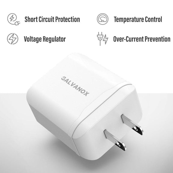Galvanox 18W USB C Power Adapter for Fast Charging iPhone X/Xs/XR/11/12/12 Pro Max/Mini-Daily Steals