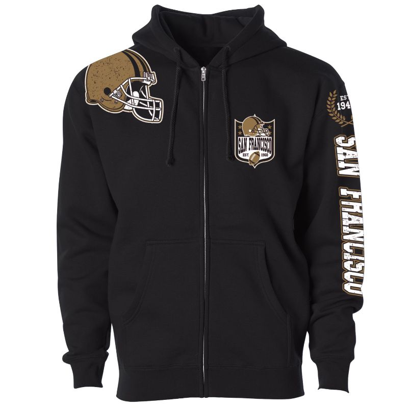 Women's Football Home Team Zip Up Hoodie-M-San Francisco-Daily Steals