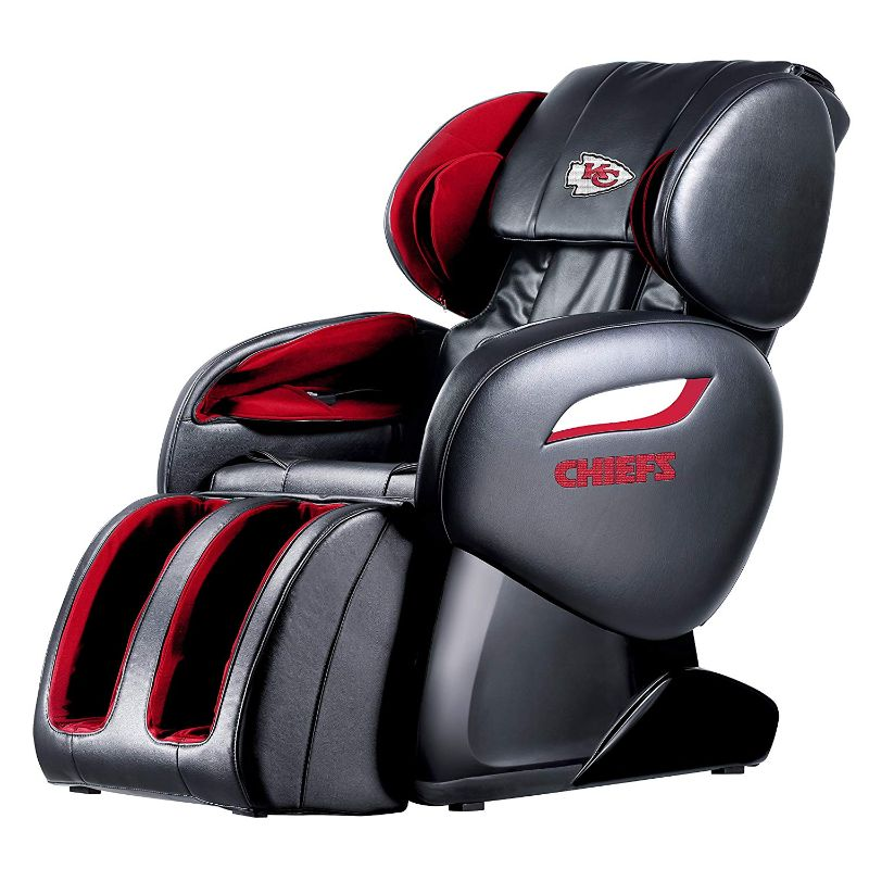 NFL Electric Full Body Shiatsu Massage Chair with Foot Roller-Kansas City Chiefs-Daily Steals
