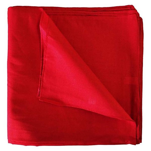 100% Cotton 18 Pack Bandana - 22 x 22-Solid Red-Daily Steals