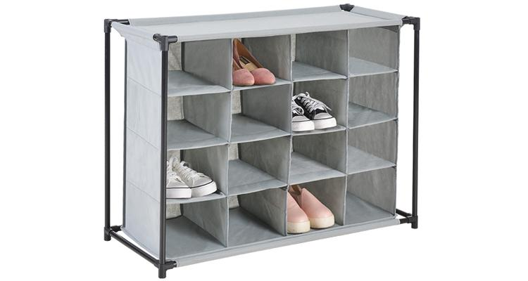Daily Steals-16-Compartment Heavy Duty Fabric Shoe Cubby-Home and Office Essentials-