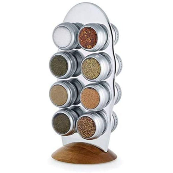 16 Jar Lazy Susan Magnetic Spice Rack - by Kamenstein Savora-