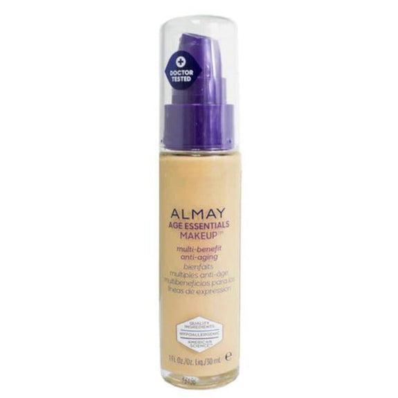 Almay Age Essentials Anti-Aging SPF 15 Foundation Makeup - 2 Pack-160 Medium Warm-Daily Steals