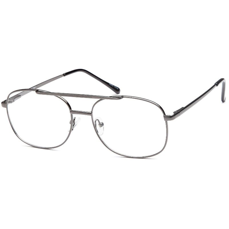 Men's Eyeglasses 56 16 140 Gunmetal Metal