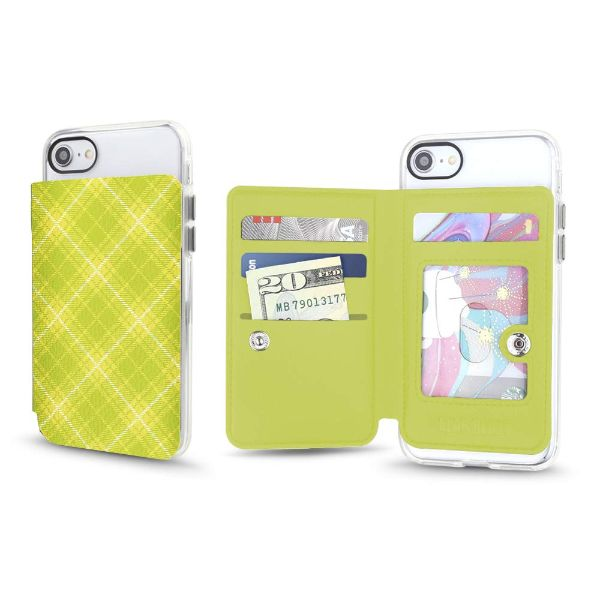 Gear Beast Universal Cell Phone Folio Wallet-Lime Tartan-Daily Steals