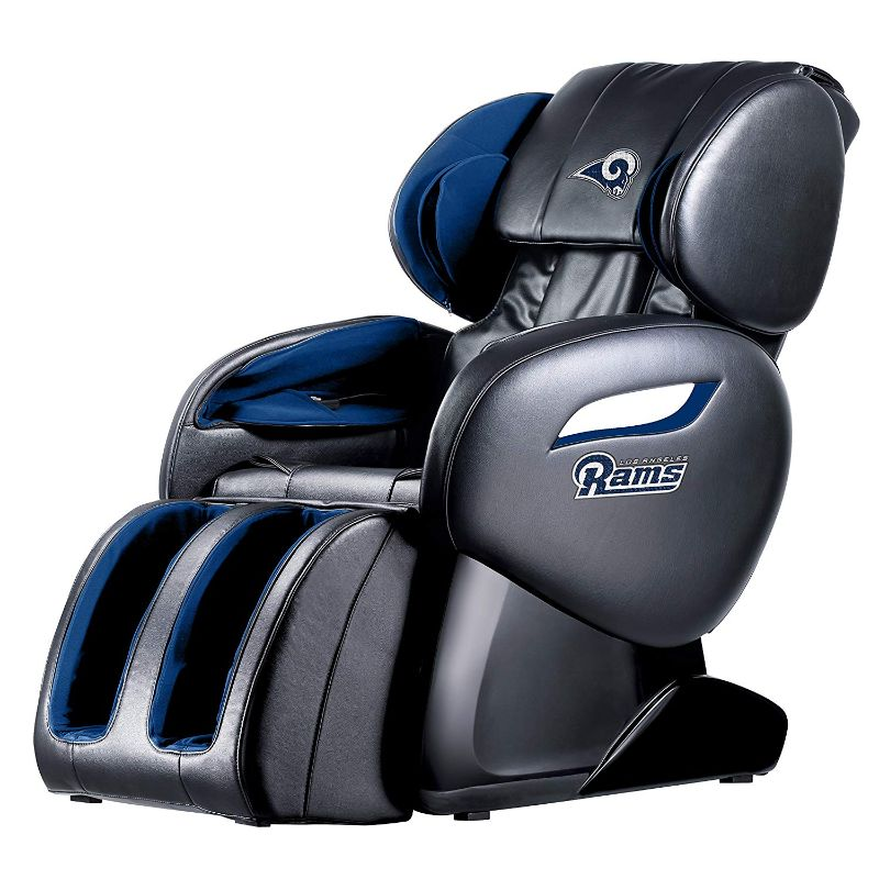NFL Electric Full Body Shiatsu Massage Chair with Foot Roller-Los Angeles Rams-Daily Steals