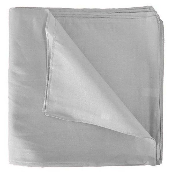 100% Cotton 18 Pack Bandana - 22 x 22-Solid White-Daily Steals