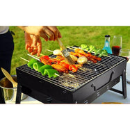 "17"" Foldable Portable Tabletop Charcoal Grill-"