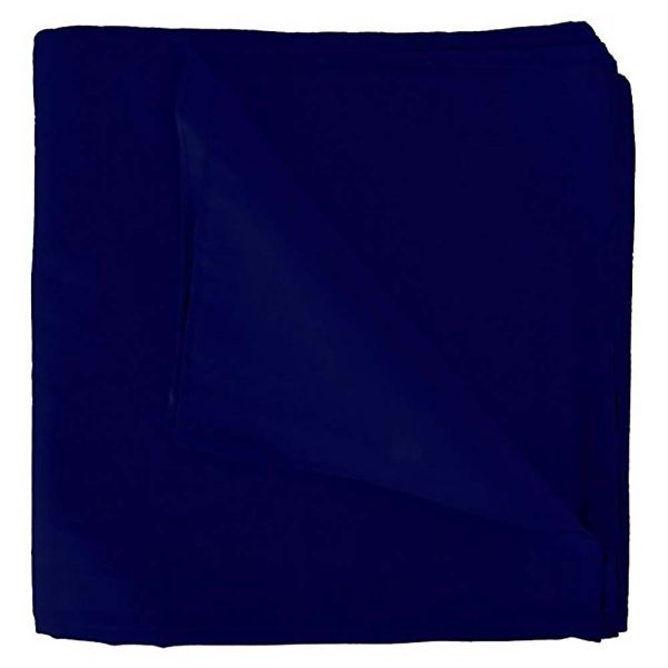 100% Cotton 18 Pack Bandana - 22 x 22-Solid Navy Blue-Daily Steals